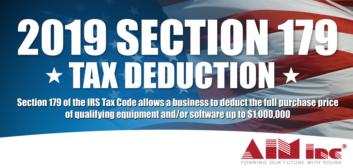 Business Tax Deduction 2020.Deduct In 2019 Pay In 2020 Aim Machines